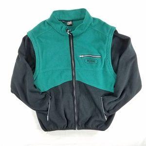 Mountain Dew Fleece Zip Up Jacket Vtg Men L XL